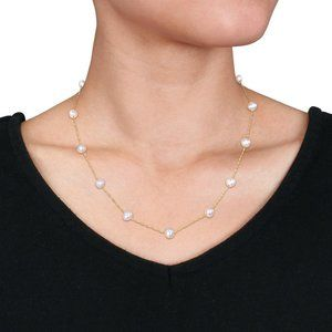 Solid 10K Gold & Fresh Water Pearls Necklace